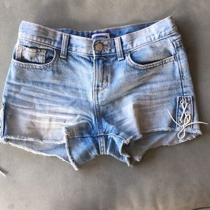 OLD NAVY WASHED DENIM SHORTS
